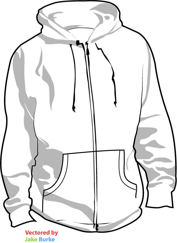 Hoodie template by pindlekill on DeviantArt