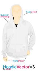 hoodie template v3 by pindlekill