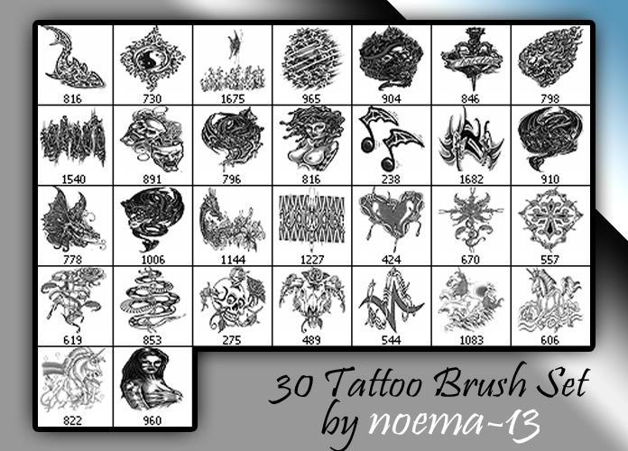 30 Tattoo brush set V by noema-13