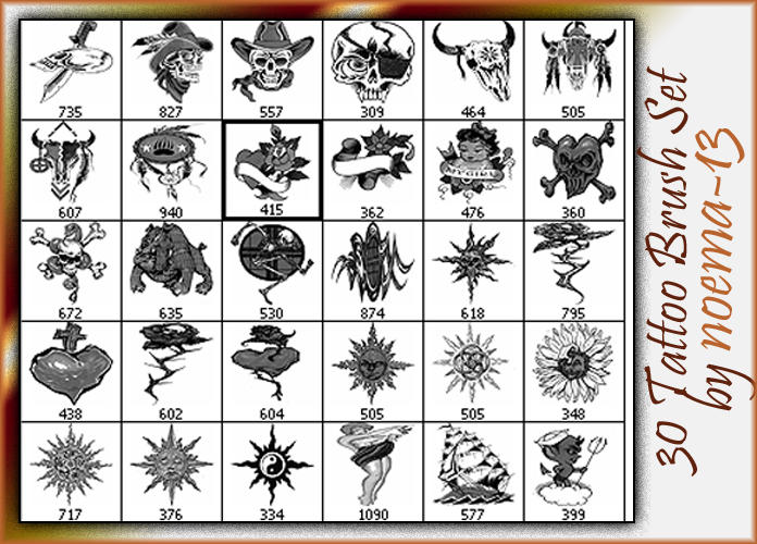 30 Tattoo Brush set 7 by noema-13