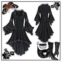 gothic black dress psd by noema-13