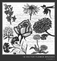 18 Vector Flower Brush set II by noema-13