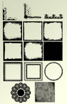 Grunge frames set 1
