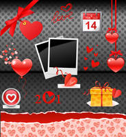 Happy Valentine's PNG Set 02 by noema-13