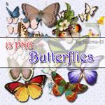13 PNG - Butterflies