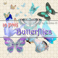 10 PNG - Butterflies by noema-13