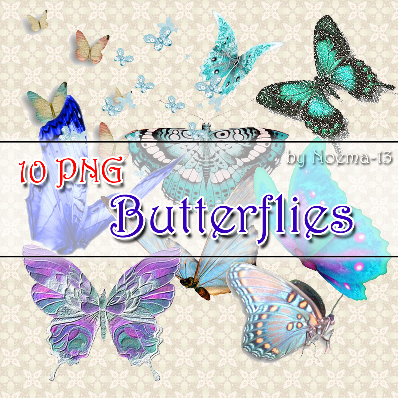 10 PNG - Butterflies by noema-13