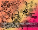 Urban decoration swirly brushes set