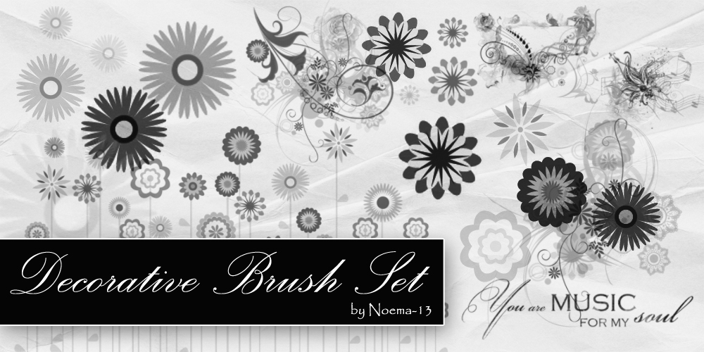 15 Decoration Swirl Brush Set by noema-13