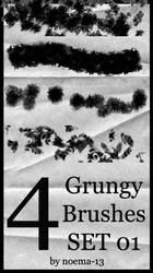 4 Grungy Brushes Set 01