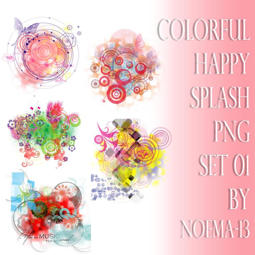 Splash png set 01 by noema-13