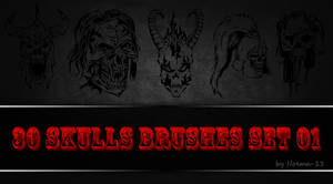 30 Skulls Brushes Set 01