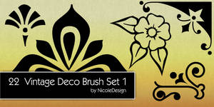 22 Vintage Deco Brush Set 1