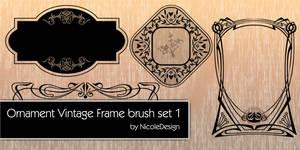 Ornament vintage frame brush set 1