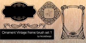 Ornament vintage frame brush set 1 by noema-13