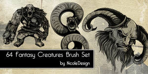 64 Fantasy Creatures Brush Set