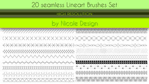 20 Seamless Lineart Brushes Set