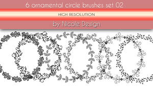 6 Ornamental Circle Brushes Set 02