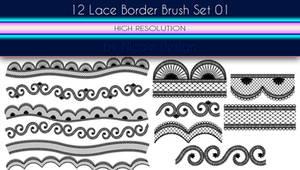 12 Lace Border Brush Set 01