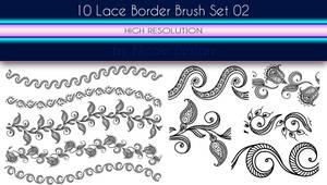 10 Lace Borders Brush Set 02 by noema-13