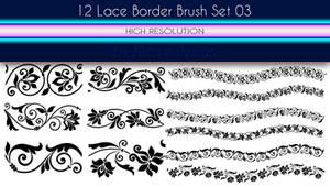 12 Lace Borders Brush Set 03 by noema-13