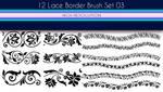 12 Lace Borders Brush Set 03