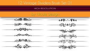 12 Vintage dividers brush set 01 by noema-13