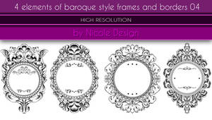 4 Elements Of Baroque Style Frames And Borders 04