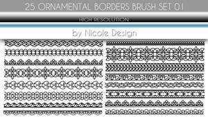 25 Ornamental Borders Brush Set 01
