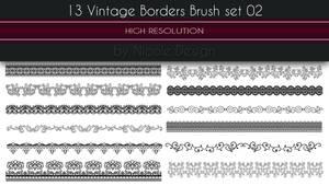 13 Vintage Borders Brush set 02
