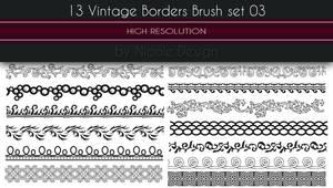 13 Vintage Borders Brush set 03