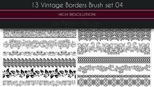 13 Vintage Borders Brush set 04