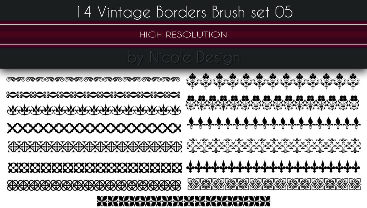 14 Vintage Borders Brush set 05 by noema-13