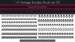 14 Vintage Borders Brush set 05