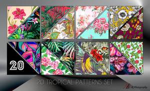20 Tropical Patterns set