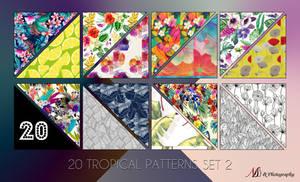 20 Tropical Patterns Set 2