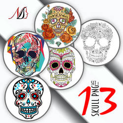 13 Skull PNG Set 1 by noema-13