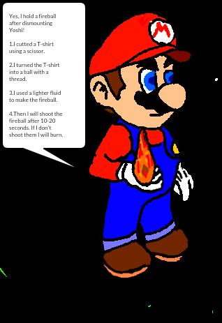 Mario Holding A Fireball By Qwertyuiopasd1234567