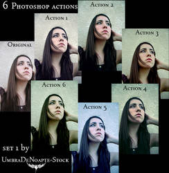 Photoshop Actions Set 1 by UmbraDeNoapte-Stock
