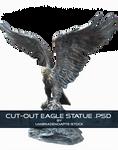 Cut-Out Eagle Statue .PSD