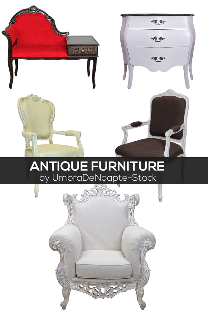 Antique Furniture by UmbraDeNoapte-Stock