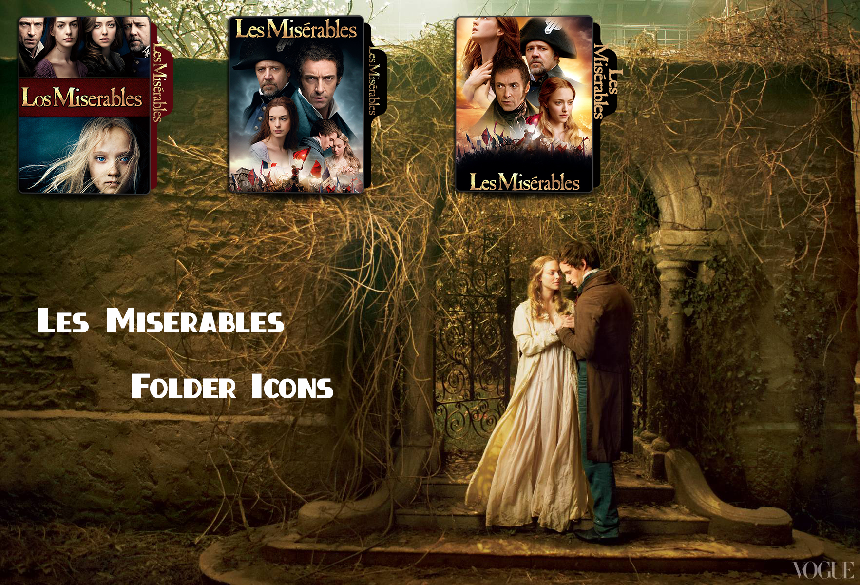 Les Miserables 2012 Folder Icons By Mesutisreal On Deviantart