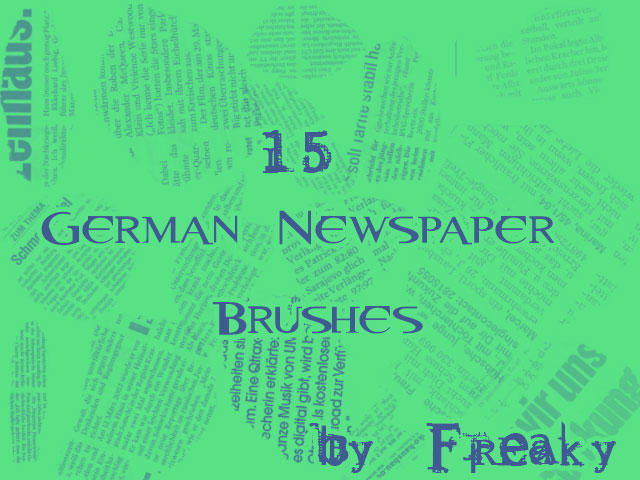 German Newspaper Brushes by freaky-x