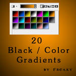 Photoshop black color gradient