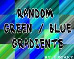 Random Green Blue Gradients