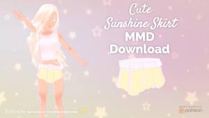 Cute Sunshine Skirt (MMD DL) (non-TDA)