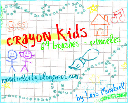 Crayon Kids Brushes by Luis-Montiel