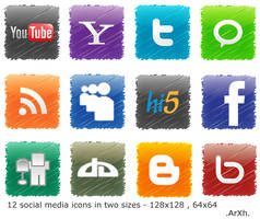 Social media icons by ArXh