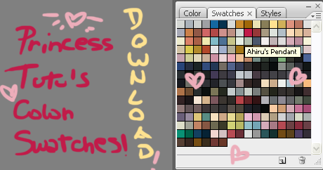 Princess Tutu Colour Swatches by mangadrawerika91