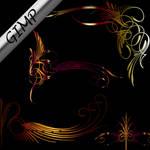 Art Nouveau II brushes GIMP
